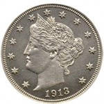 Niklowa Moneta - Liberty Head V Nickel 1913