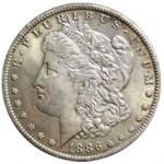 Srebrna Moneta - Morgan Silver Dollar 1886 O