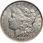 Srebrna Moneta - Morgan Silver Dollar 1901