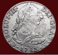 Srebrna moneta - 8 Real-Awers
