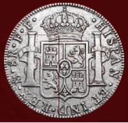 Srebrna moneta - 8 Real-Rewers