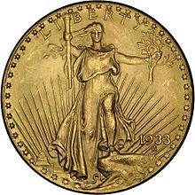 Złota Moneta Double Eagles - Awers