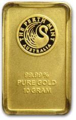 10g Sztabka Zlota Perth Mint Australia LBMA