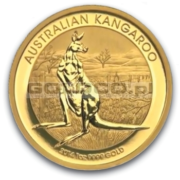 1oz-Australijski-Kangur-2014-zlota-moneta-rewers