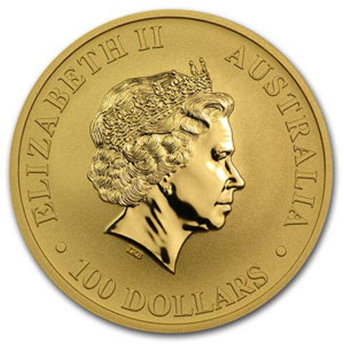1 uncja Australijski Kangur zlota moneta bulionowa - Awers