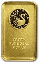 5 gram Sztabka Zlota Perth Mint Australia