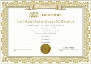 Sztabka Złota Argor Heraeus 1 uncja certyfikat