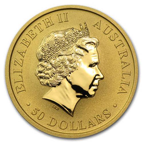 1/2 uncji Australijski Kangur złota moneta - Awers