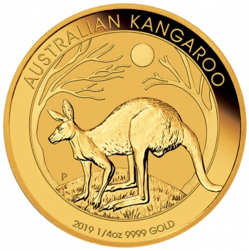 1/4 oz australijski-kangur-zlota-moneta-2019-rok-rewers