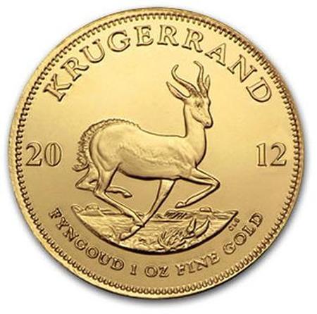 1 uncja Krugerrnad zlota moneta - Rewers