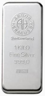 1000 gram srebrna sztabka Argor-Heraeus Szwajcaria