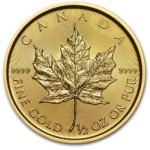 1/2-oz-Kanadyjski-Lisc-Klonu-zlota-moneta-2015-rewers