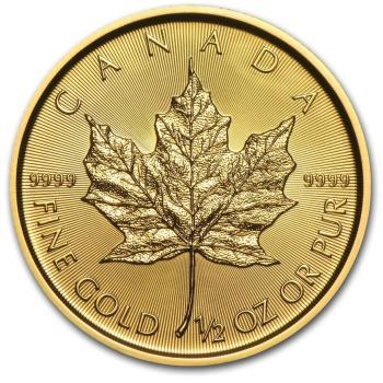 1/2-oz-Kanadyjski-Lisc-Klonu-zlota-moneta-2020-rewers