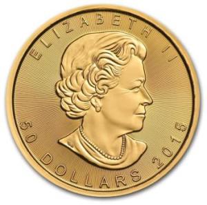 1oz-Kanadyjski-Lisc-Klonu-zlota-moneta-2015-awers