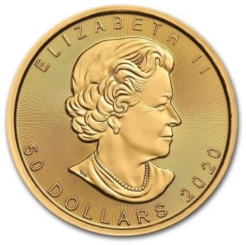 1oz-Lisc-Klonu-2020-zlota-moneta-awers