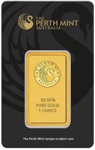 1oz-Sztabka-Zlota-Perth-Mint-Australia-Certicard-LBMA-awers