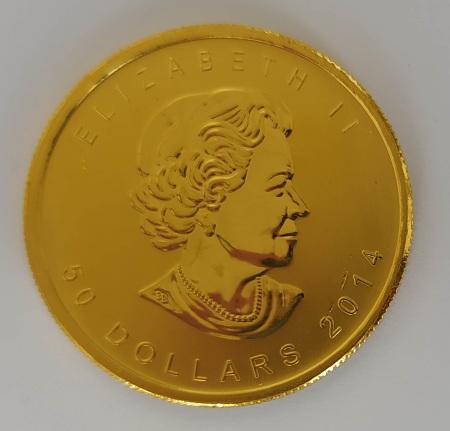 1oz-kanadyjski-lisc-klonu-zlota-moneta-awers-2014