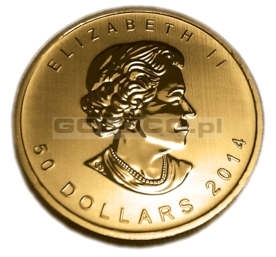 1 uncja Kanadyjski Lisc Klonowy (Canadian Maple Leaf) - Awers