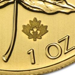 1 uncja Kanadyjski Liść Klonowy (Canadian Maple Leaf) - Stempel