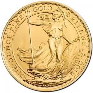 1 uncja Zlota Britannia zlota moneta bulionowa - Awers