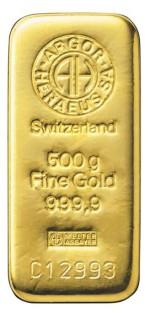 500 gram Sztabka Zlota Argor Heraeus Szwajcaria LBMA