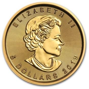 1/10-oz-Lisc-Klonu-2019-zlota-moneta-awers