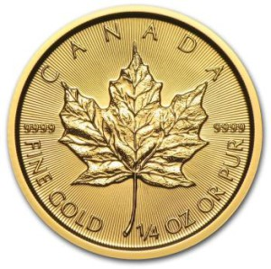 1/4-oz-Kanadyjski-Lisc-Klonu-zlota-moneta-2015-rewers
