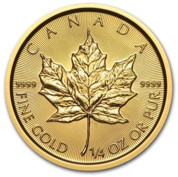 1/4-oz-Kanadyjski-Lisc-Klonu-zlota-moneta-2017-rewers