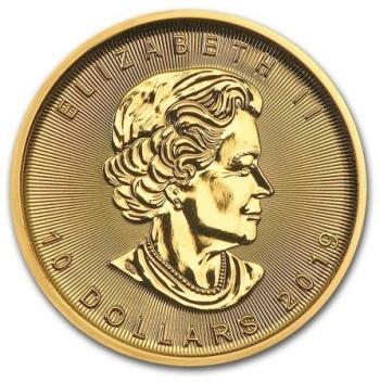 1/4-oz-Lisc-Klonu-2020-zlota-moneta-awers