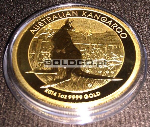 australijski-kangur-2014-zlota-moneta-rewers