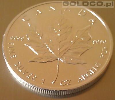 Srebrna-Moneta-Kanadyjski-Lisc-Klonowy-Rocznik2013-Rewers