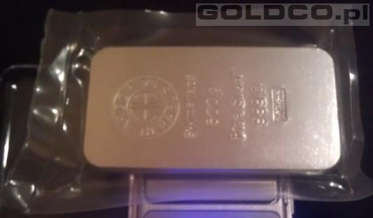Sztabka srebra Argor-Heraeus 500 gram
