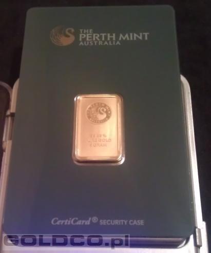 Sztabka zlota 5 gram Perth Mint