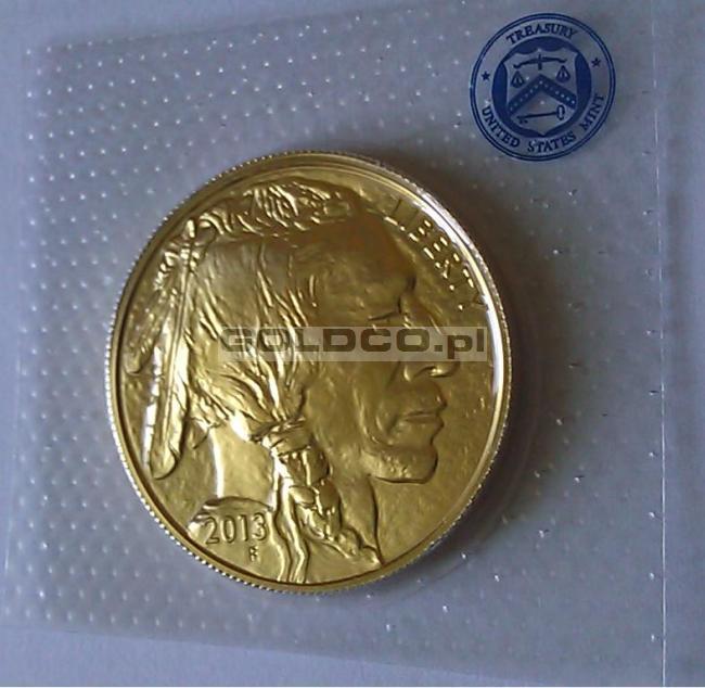 Złoty-Amerykański-Bizon-2013-awers