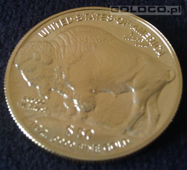 Zlota-moneta-Amerykanski-Bizon-2013-rewers