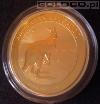 Zloty Australijski Kangur Rocznik 2013 1oz - Rewers
