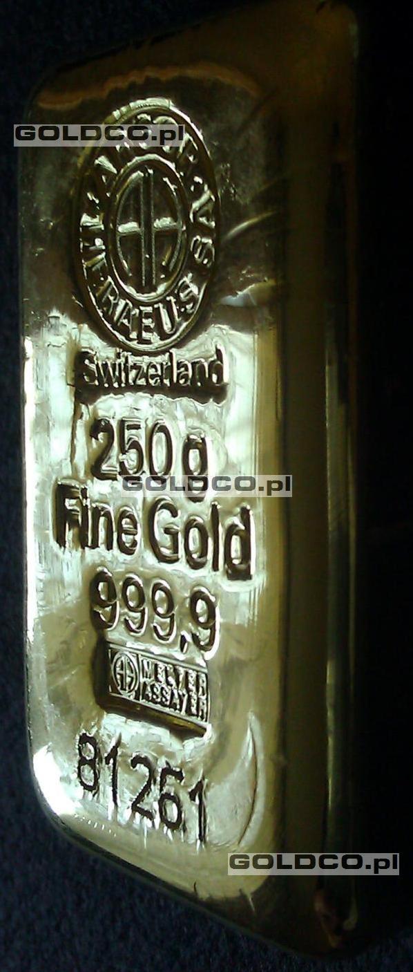 sztabka-zlota-LBMA-250g-szwajcaria