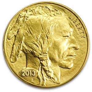 Złoty Amerykański Bizon 2013 1 oz uncja moneta bulionowa- Awers