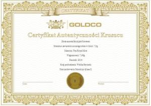 zloty-suweren-zlota-moneta-certyfikat