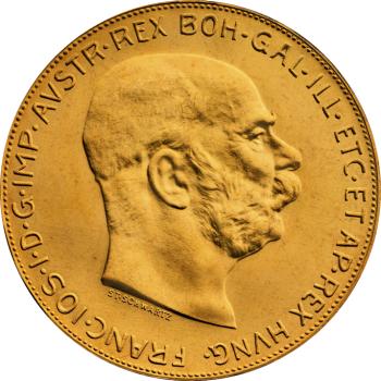 100-Koron-Austriackich-1915-zlota-moneta-Awers