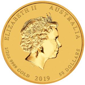 1-2-oz-Rok-Swini-2019-Seria-Ksiezycowa-zlota-moneta-awers