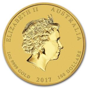 Rok-Koguta-2017-1oz-Seria-Ksiezycowa-zlota-moneta-awers