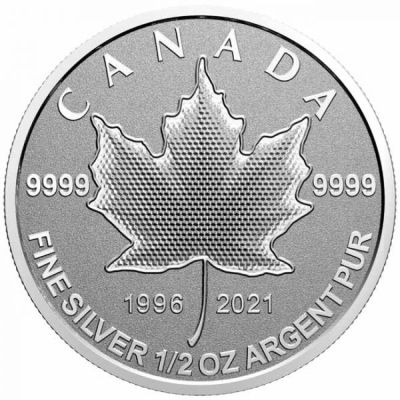 1/2_oz-Lisc-Klonu-25lat-emisji-srebrnych-monet-rewers