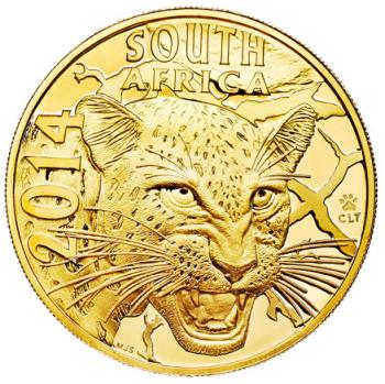 Zlota-moneta-Seria-Natura2014-Nocny-Lowca-Leopard-awers