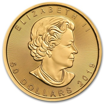 1oz-Lisc-Klonu-2019-zlota-moneta-awers