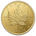 1/20-oz-Kanadyjski-Lisc-Klonu-zlota-moneta-2015-rewers