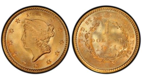 1-Dollar-1851-USA-jeden-zloty-dolar-zlota-moneta-typI