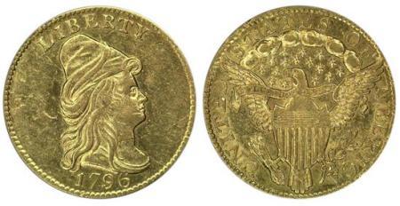 moneta-zlota-2_5-dolara-Liberty-1796-United-States-of-America-bez-gwiazdek