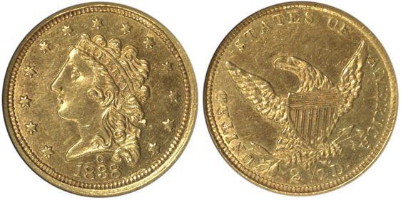 moneta-zlota-2_5-dolarowka-Liberty-1834-1839-United-States-of-America