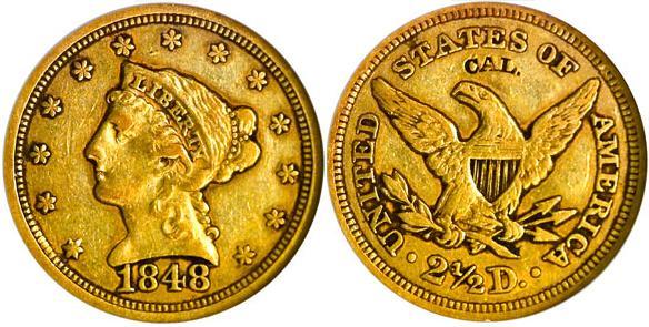 moneta-zlota-2_5-dolarowka-Liberty-1848CAL-United-States-of-America
